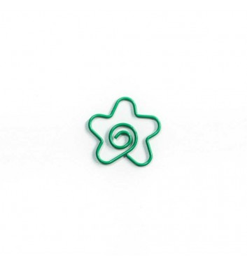 "Paperclip ""Flower"" Green"