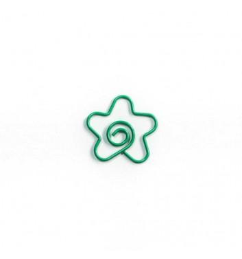 "Скрепка ""Flower"" Green"