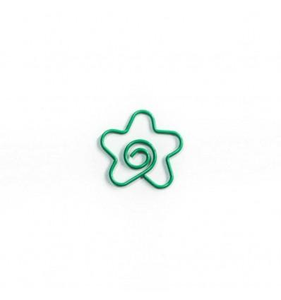 """Скріпка """"Flower"""" Green"""