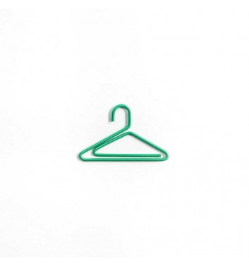 """Paperclip """"Hanger"""" Green"""