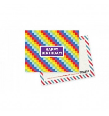 "Mini-Postcard ""Happy birthday"""