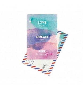 """Листівка """"Love, dream, feel"""""""