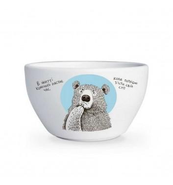 Глубокая тарелка «Медвежонок и суп»