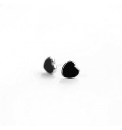 "Серьги ""Heart Black"""