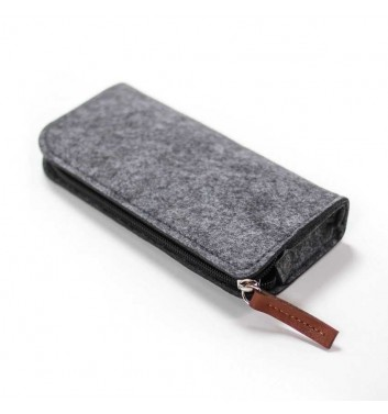 "Pencil case ""Felt narrow"" Dark"
