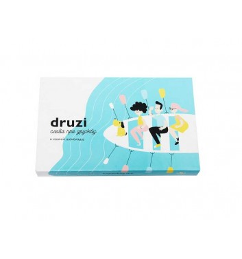 "A set of chocolates with prediction ""Druzi"""