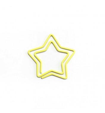 """Paperclip """"Star"""" Yellow"""