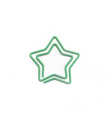 """Paperclip """"Star"""" Green"""