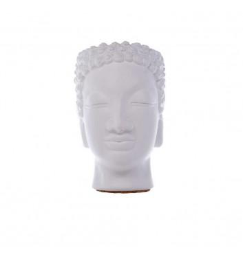 "Pot organizer Vase-Head ""Buddha"" White"