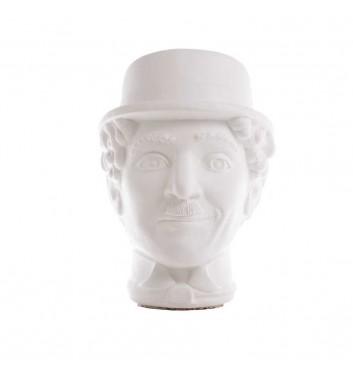 "Pot organizer Vase-Head ""Chaplin"" White"
