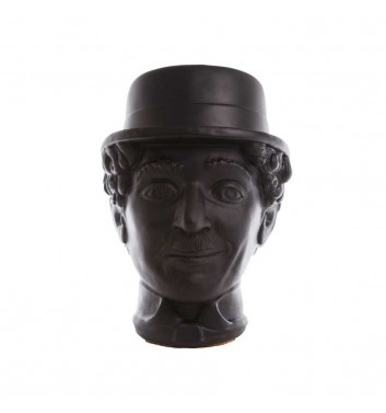 "Вазон-органайзер Vase-Head ""Чаплин"" Black"