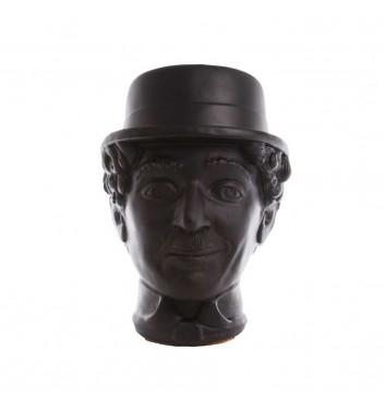 """Вазон-органайзер Vase-Head """"Чаплін"""" Black"""