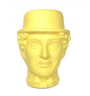 """Вазон-органайзер Vase-Head """"Чаплін"""" Yellow"""