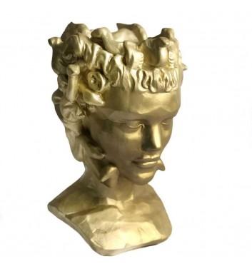 "Pot organizer Vase-Head ""Gorgon"" Gold"