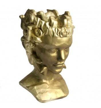 "Вазон-органайзер Vase-Head ""Горгона"" Gold"