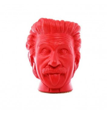 """Вазон-органайзер Vase-Head """"Эйнштейн"""" Red"""