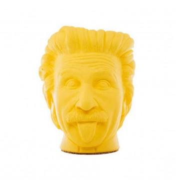 """Pot organizer Vase-Head """"Einstein"""" Yellow"""