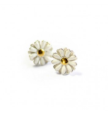 "Earrings ""Chamomile flowers"""