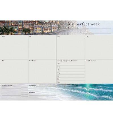 """Щотижневий планер відривний A4 """"My perfect week"""""""