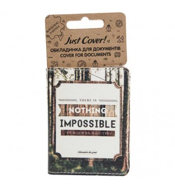 """Cover on ID card """"Nothing impossible"""""""
