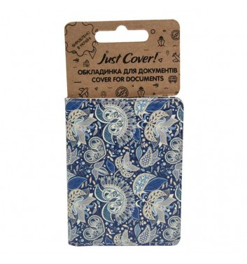 "Cover on ID card ""Blue Pattern"""