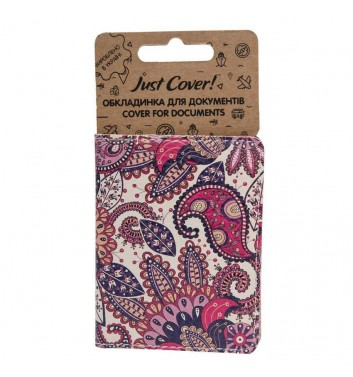 """Cover on ID card """"Purple pattern"""""""