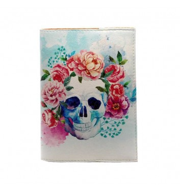 "Cover for passport ""Skull"""
