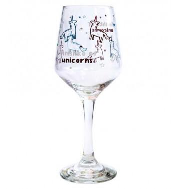 "Wineglass ""Wine of unicorns"""