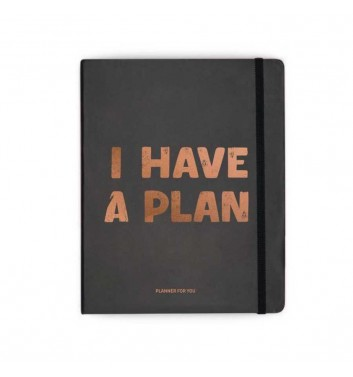 Планер «I have a plan» Черный