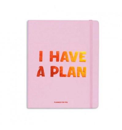 Планер «I have a plan» Розовый