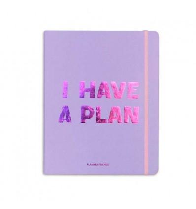 Планер «I have a plan» Лавандовый