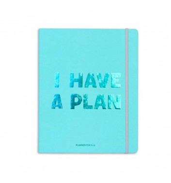 Планер «I have a plan» Бірюзовий