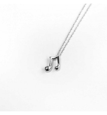 Pendant Argent jewellery Music notes