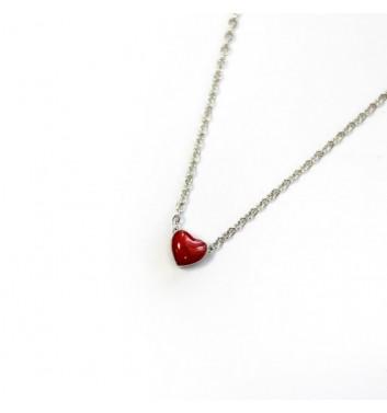 Pendant Argent jewellery Heart red