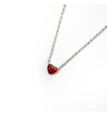 Подвеска Argent jewellery Heart red