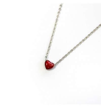 Підвіска Argent jewellery Heart red