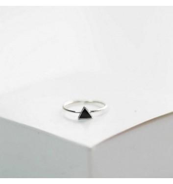 Кольцо Argent jewellery Black triangle