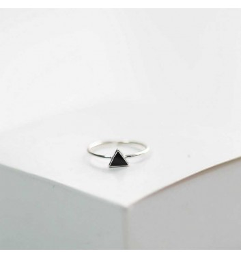 Ring Argent jewellery Black triangle