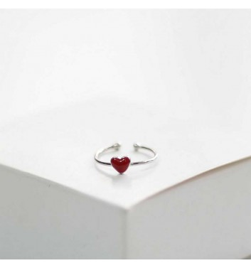 Ring Argent jewellery Red heart
