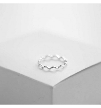 Ring Argent jewellery Simple wavy