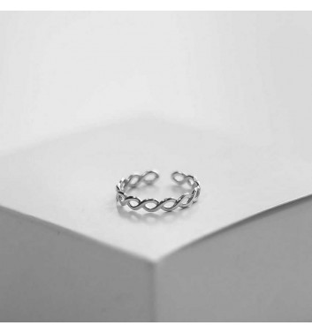 Ring Argent jewellery Two wavy lines