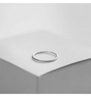Ring Argent jewellery Simple wicker