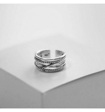 Ring Argent jewellery Interlaced lines