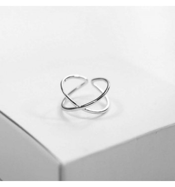 Ring Argent jewellery Two straight lines