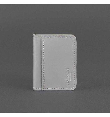 Card Case Blanknote 4.0 (with a window) Gray