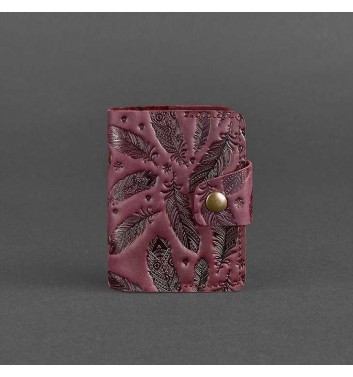 Card Case Blanknote 7.1 Grape with feathers