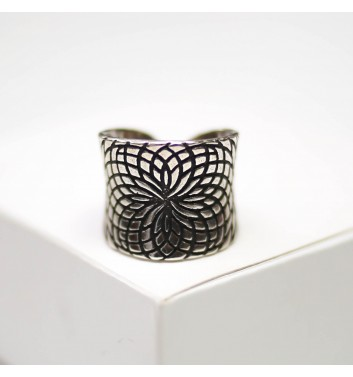 Ring Argent jewellery Wide patterned