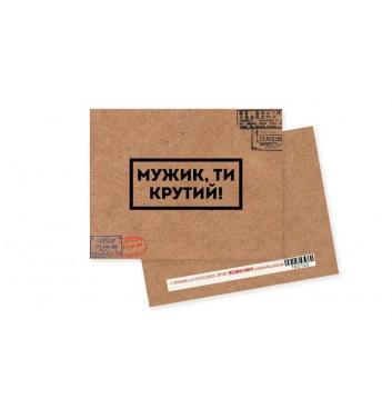 Мини-открытка Mirabella postcards Мужик