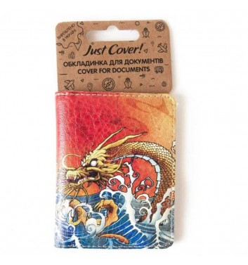 Cover on ID card Just cover Chinese dragon