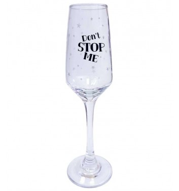 Glass for champagne Papa Design Don't stop me